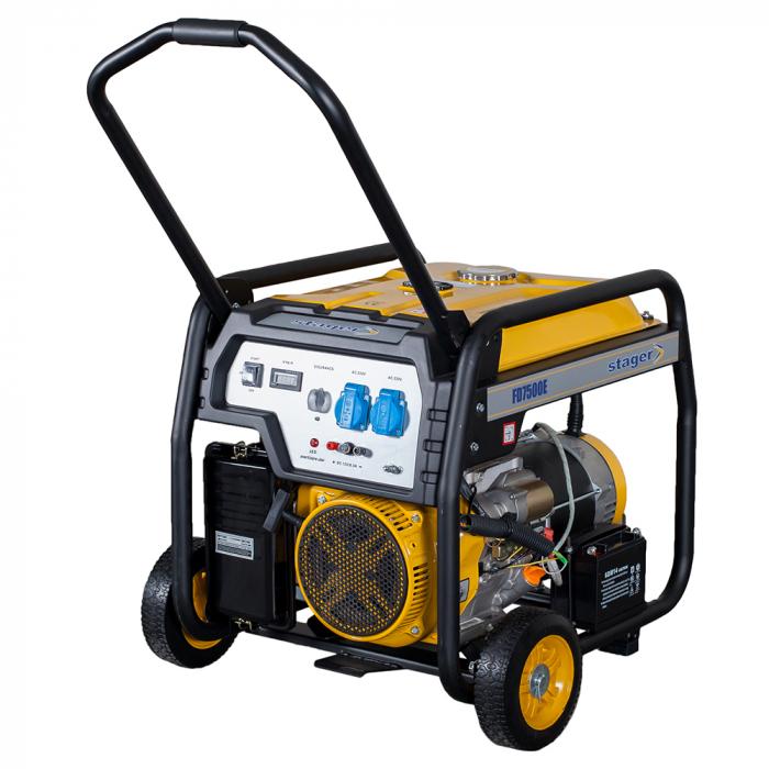 Stager FD 7500E generator open-frame 6kW, monofazat, benzina, pornire electrica [0]