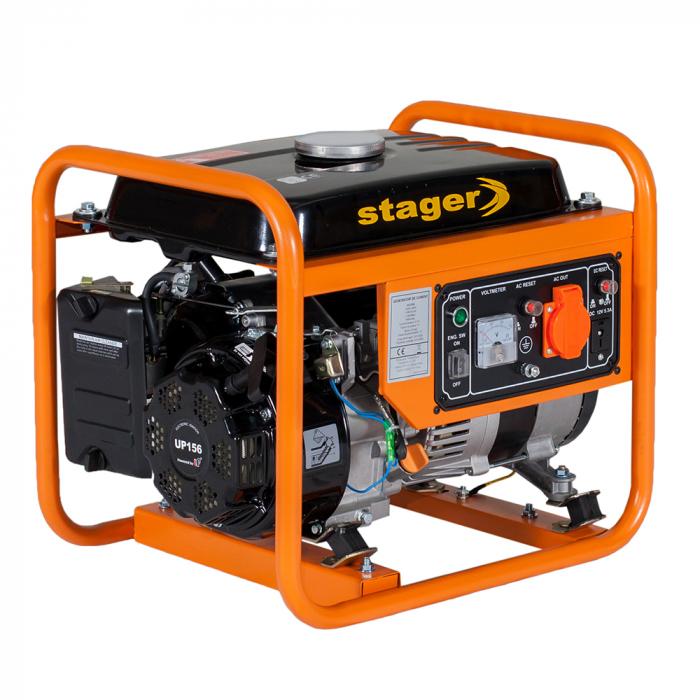 Stager GG 1356 generator open-frame 1kW, monofazat, benzina, pornire la sfoara [0]