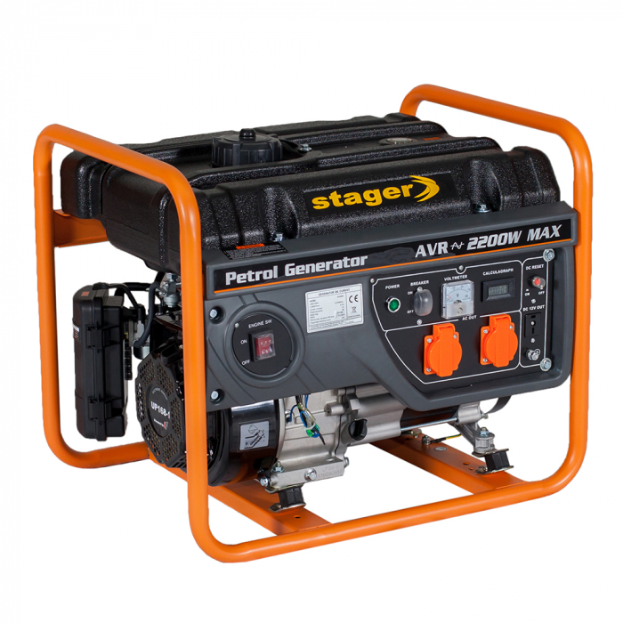 Stager GG 2800 generator open-frame 2kW, monofazat, benzina, pornire la sfoara [0]