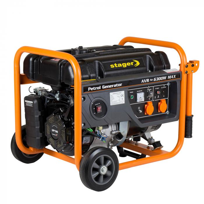 Stager GG 7300W generator open-frame 5.8kW, monofazat, benzina, pornire la sfoara [0]