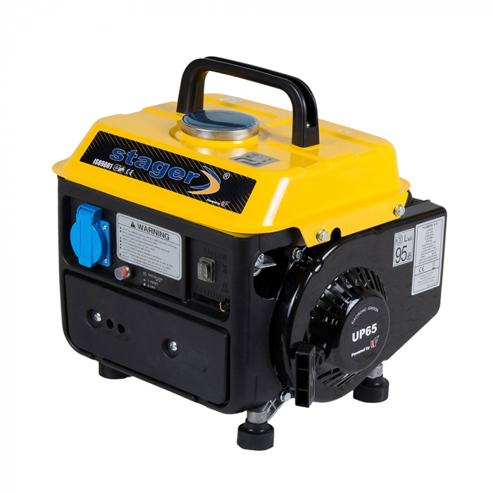 Stager GG 950DC generator open-frame 0.72kW, monofazat, amestec ulei/benzina, pornire la sfoara [1]