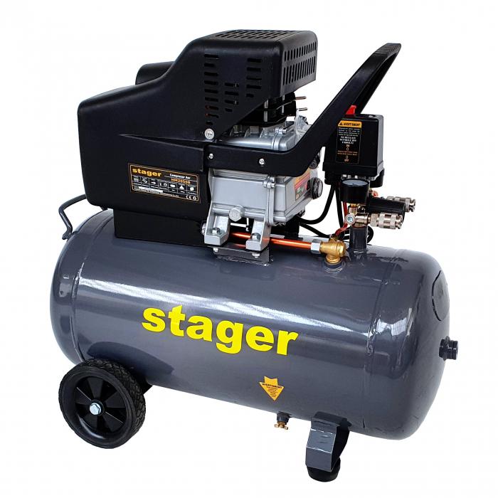 Stager HM2050B compresor aer, 50L, 8bar, 200L/min, monofazat, angrenare directa [0]