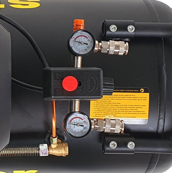 Stager HM3100V-10 compresor aer, 100L, 10bar, 356L/min, monofazat, angrenare directa [1]