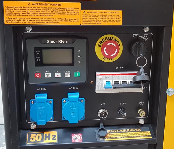 Stager YDE12E3 Generator open frame diesel trifazat, 8kW, pornire la cheie 0