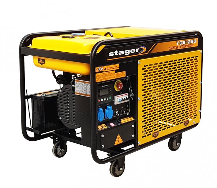 Stager YDE12E3 Generator open frame diesel trifazat, 8kW, pornire la cheie 1