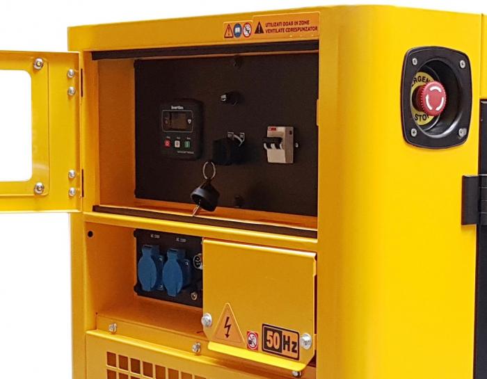 Stager YDE12T Generator insonorizat diesel monofazat 8.5kVA, 37A, 3000rpm 1