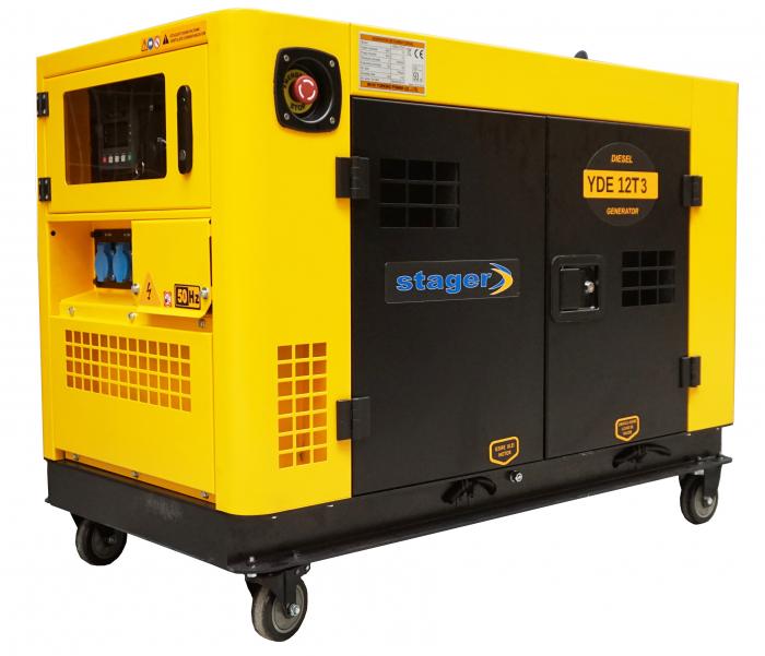 Stager YDE12T3 Generator insonorizat diesel trifazat 10kVA, 14A, 3000rpm 1