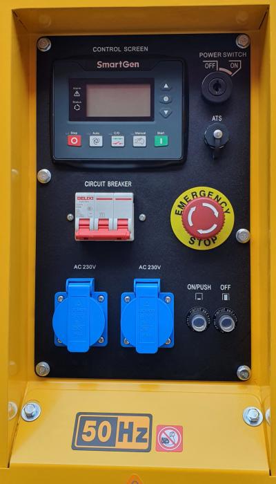 Stager YDE15000T3 Generator insonorizat diesel trifazat 13kVA, 19A, 3000rpm [0]