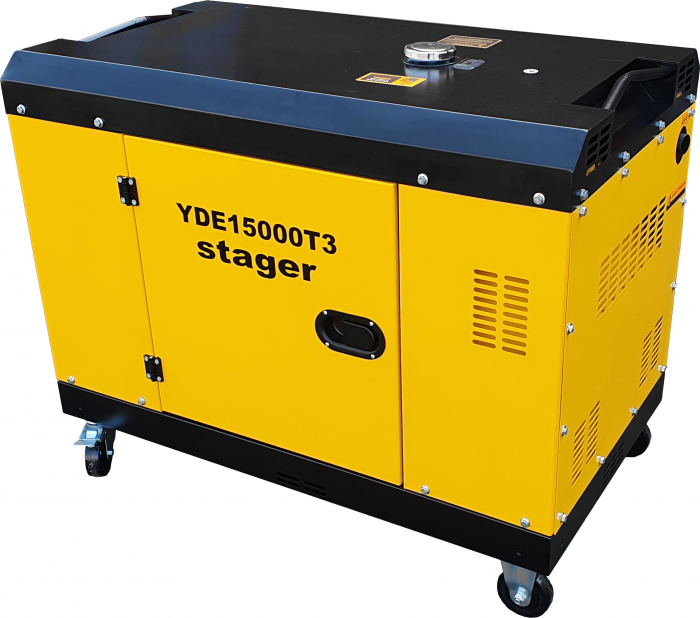 Stager YDE15000T3 Generator insonorizat diesel trifazat 13kVA, 19A, 3000rpm [1]