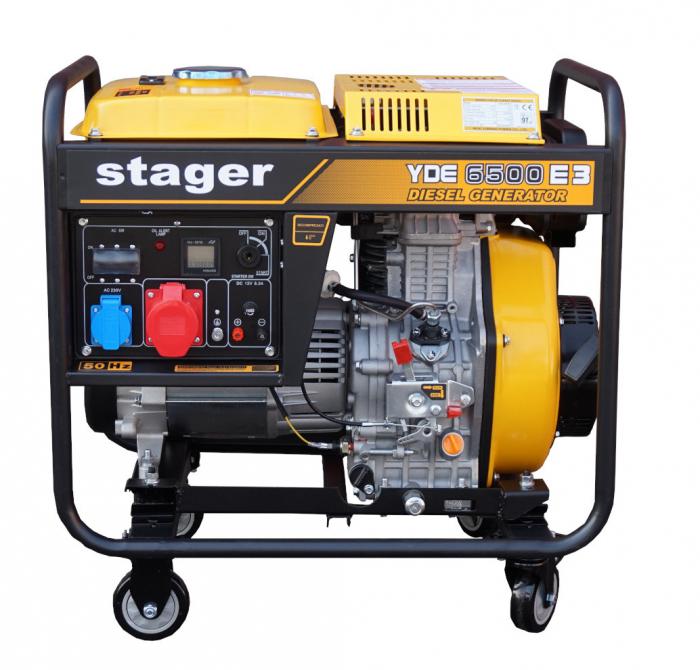 Stager YDE6500E3 Generator open frame 5.5kW, trifazat, diesel, pornire la cheie 1