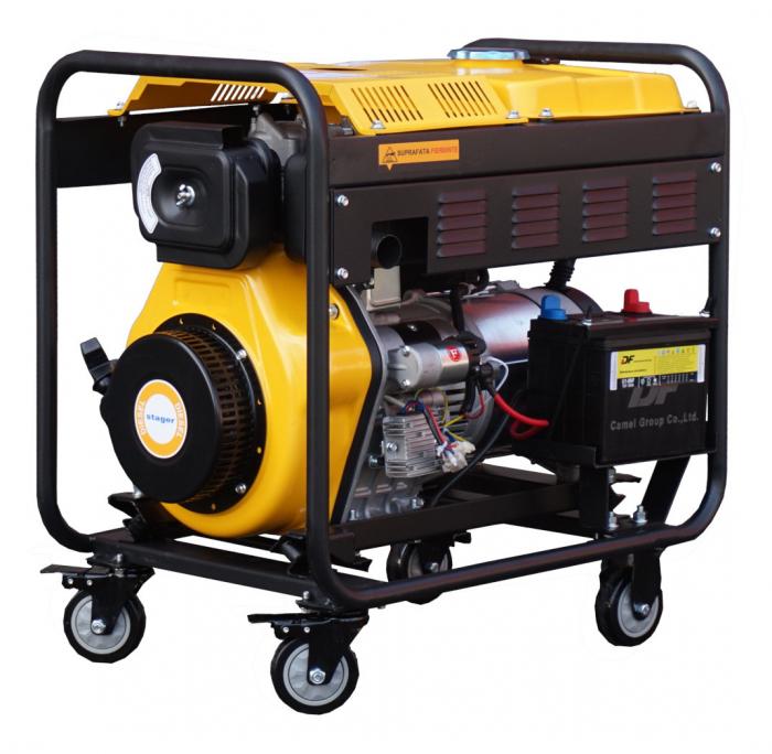 Stager YDE6500E3 Generator open frame 5.5kW, trifazat, diesel, pornire la cheie 0