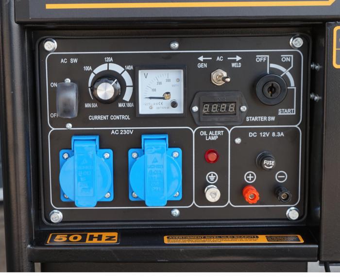 Stager YDE6500EW Generator sudare diesel monofazat, 2kVA, curent sudare 160A, pornire la cheie [0]