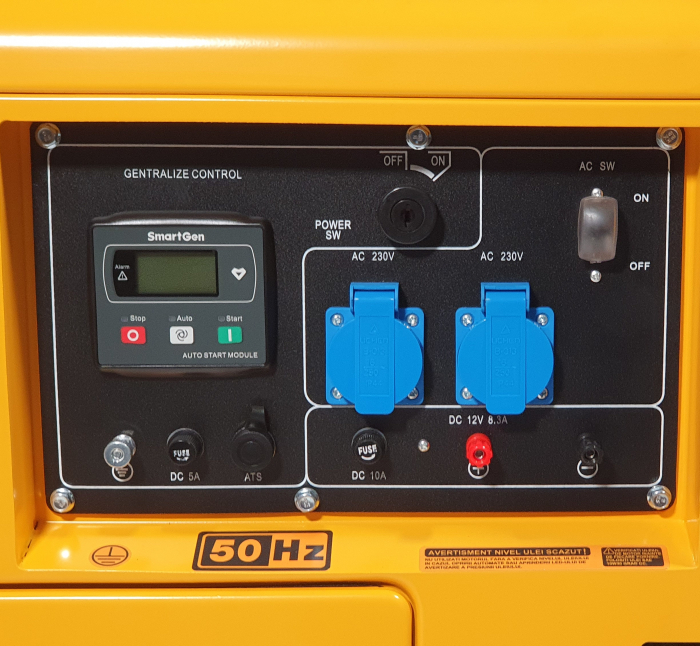 Stager YDE7000TD Generator insonorizat diesel monofazat 4.2kVA, 18A, 3000rpm + automatizare YA40063 inclusa 2