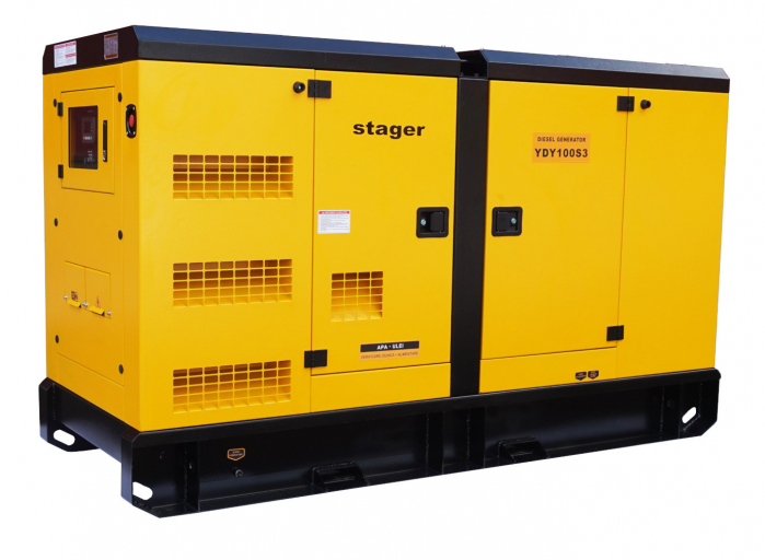Stager YDY100S3 Generator insonorizat diesel trifazat 91kVA, 131A, 1500rpm 2