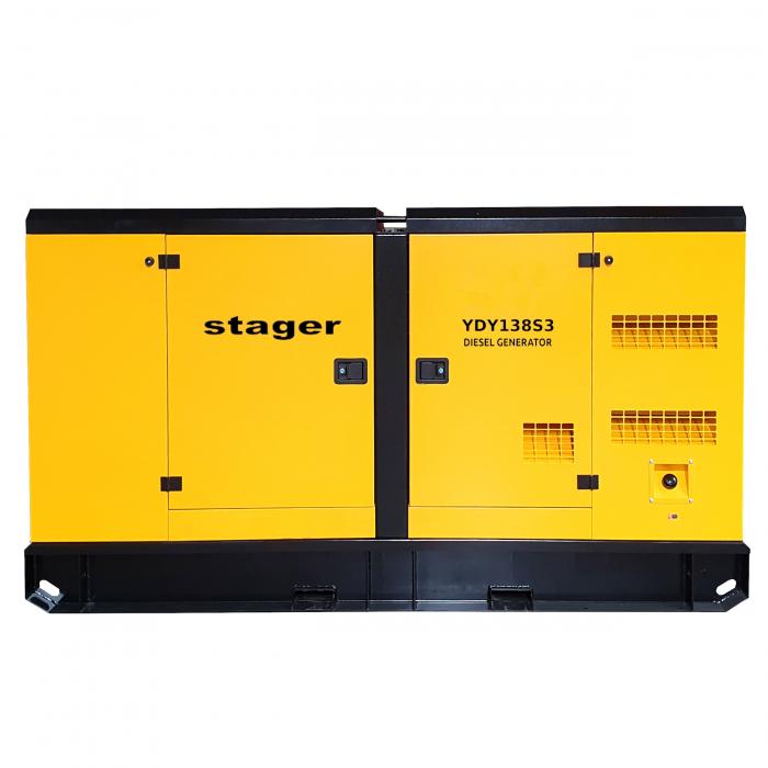 Stager YDY138S3 Generator insonorizat diesel trifazat 125kVA, 180A, 1500rpm [1]