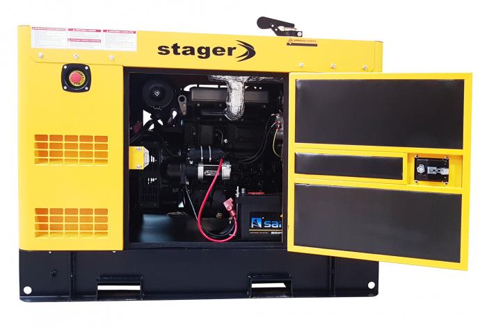 Stager YDY15S3-E Generator insonorizat diesel trifazat 14kVA, 19A, 1500rpm 2