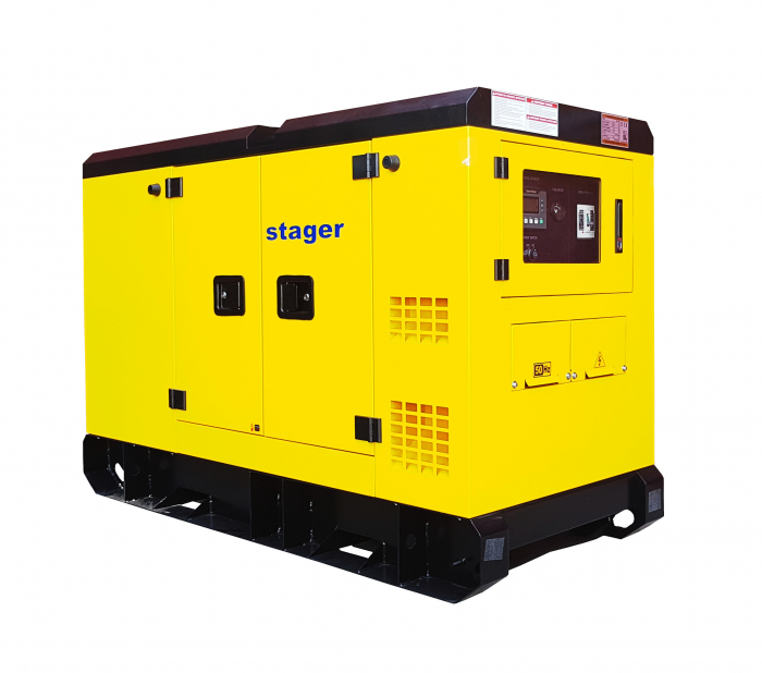 Stager YDY182S3 Generator silent, diesel, 182kVA 0