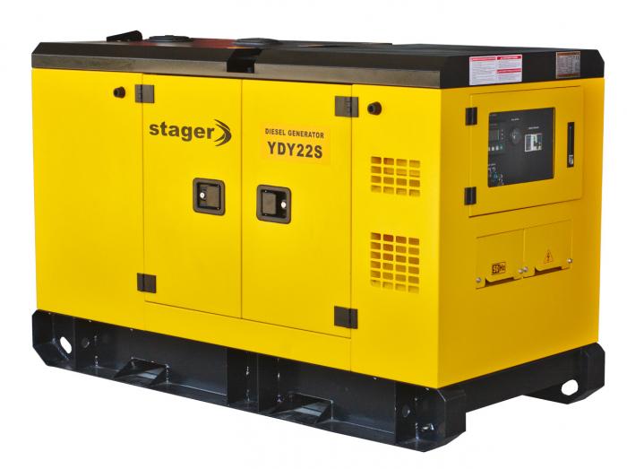 Stager YDY22S Generator insonorizat diesel monofazat 20kVA, 87A, 1500rpm 1