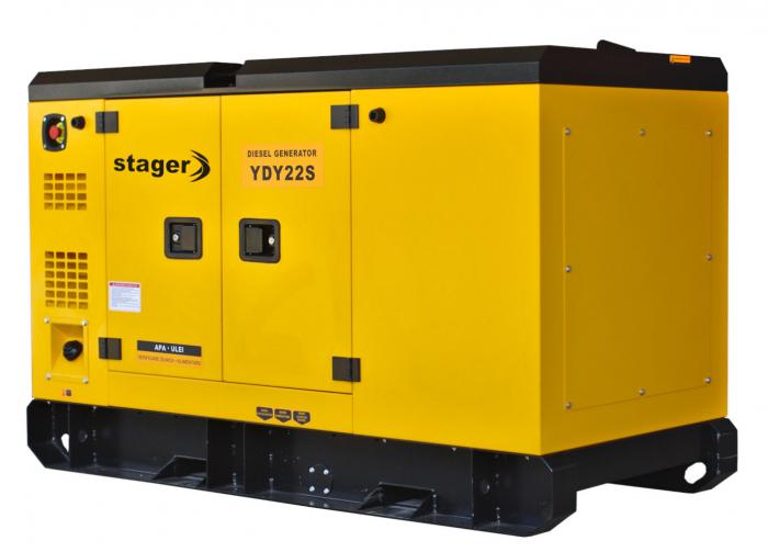 Stager YDY22S Generator insonorizat diesel monofazat 20kVA, 87A, 1500rpm 2