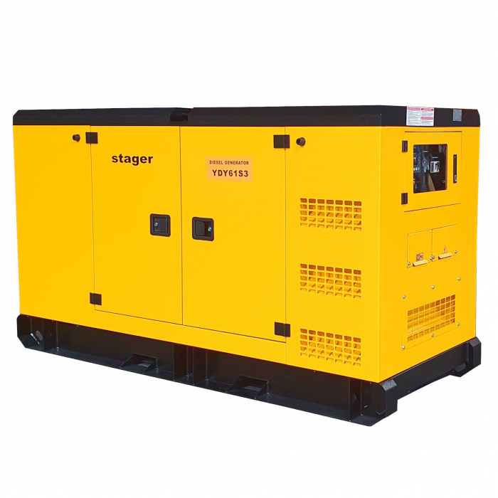 Stager YDY61S3 Generator insonorizat diesel trifazat 55kVA, 79A, 1500rpm [1]
