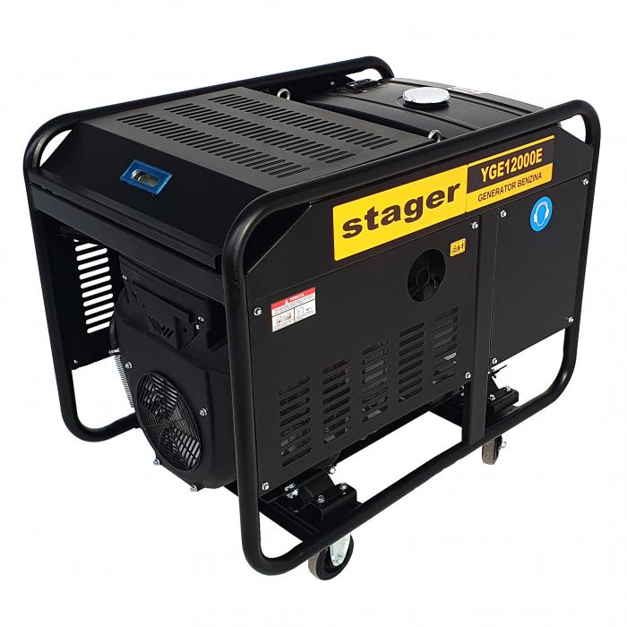 Stager YGE12000E Generator open frame 10.0kW, monofazat, benzina, pornire electrica 1