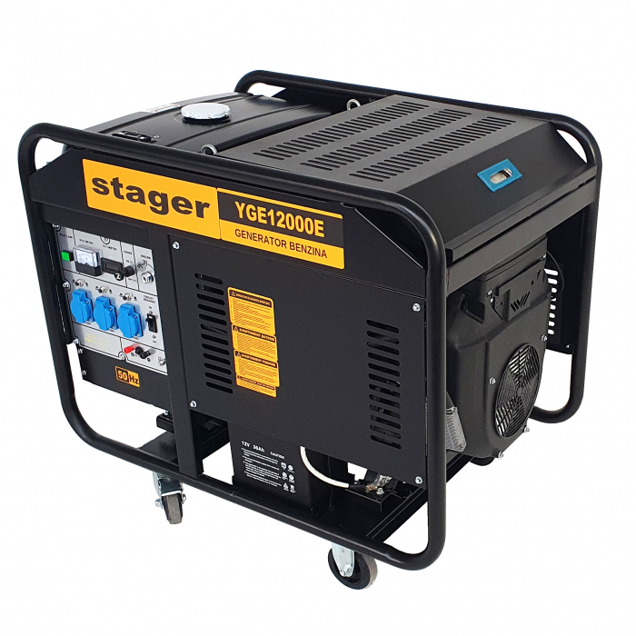 Stager YGE12000E Generator open frame 10.0kW, monofazat, benzina, pornire electrica 0