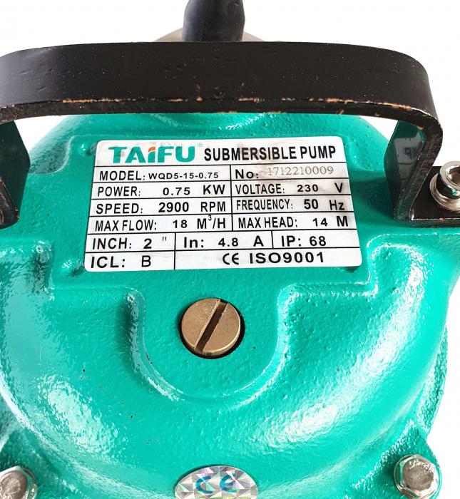 Taifu WQD5-15-075 Pompa submersibila apa murdara 750W, 300L/min [1]