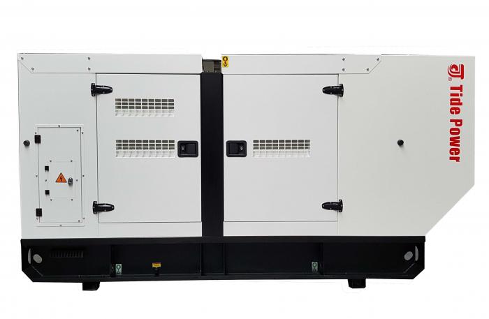 Tide Power TC100C-T Generator insonorizat diesel trifazat, 100kVA, 144A, 1500rpm cu automatizare 1