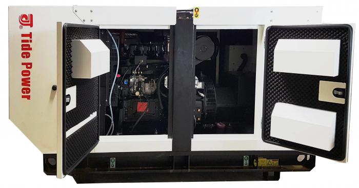 Tide Power TC40C-T Generatorl insonorizat diesel trifazat, 40kVA, 57A, 1500rpm cu automatizare [0]