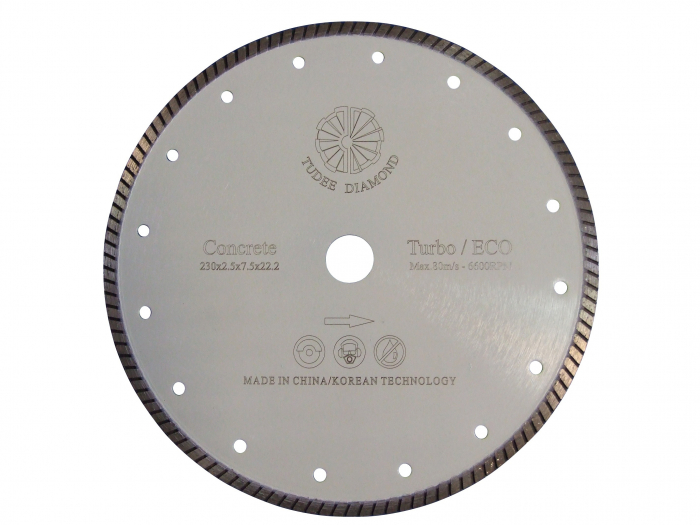 Tudee 115x22.2mm, Disc diamantat debitare beton dur 0