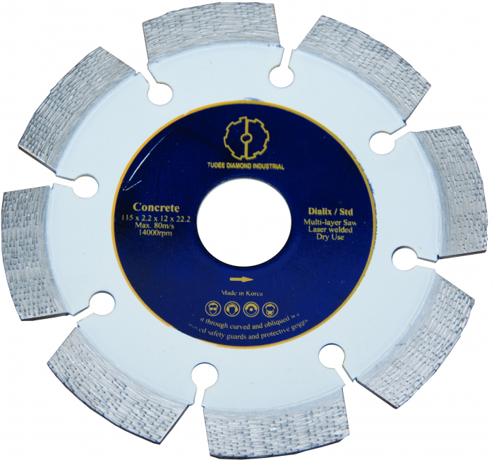 Tudee 115x22.2mm, Disc diamantat debitare beton dur armat 0
