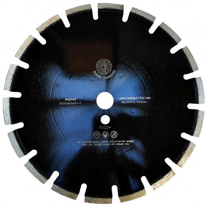 Tudee 300x2.8x10x25.4-P, Disc diamantat asfalt 0