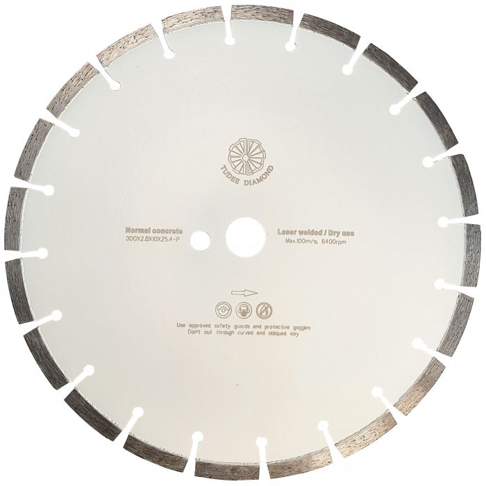 Tudee 300x2.8x10x25.4-P, Disc diamantat beton [0]