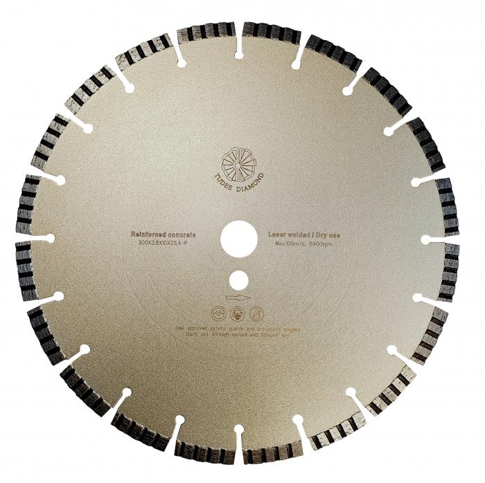 Tudee 300x2.8x10x25.4-P, Disc diamantat beton armat [0]