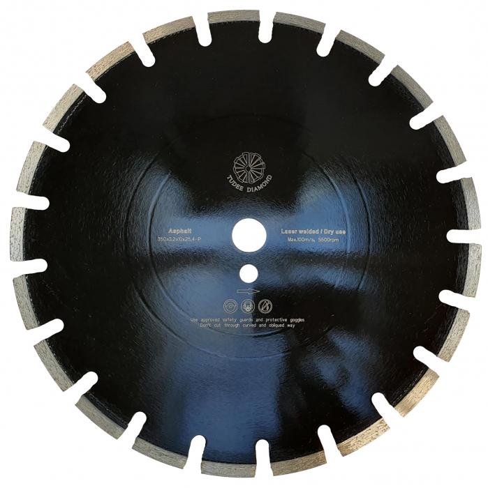 Tudee 350x3.2x10x25.4-P, Disc diamantat asfalt 0