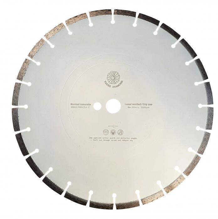 Tudee 350x3.2x10x25.4-P, Disc diamantat beton [0]