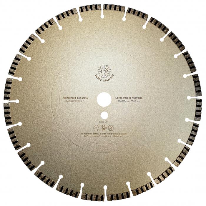 Tudee 350x3.2x10x25.4-P, Disc diamantat beton armat [0]