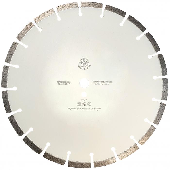 Tudee 400x3.2x10x25.4-P, Disc diamantat beton 0