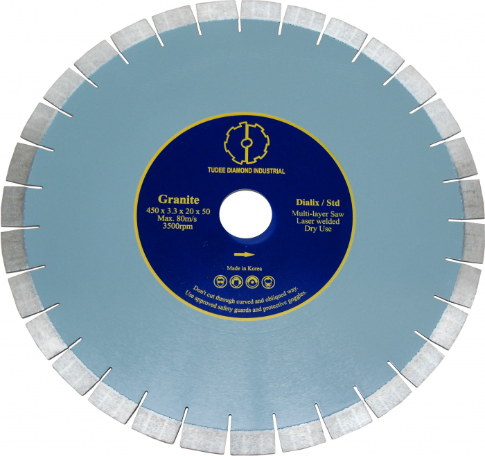 Tudee 400x50x20mm, Disc diamantat debitare granit, Dialix, standard [0]