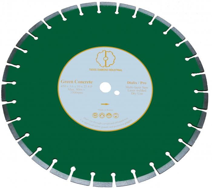 Tudee 450x25.4mm, Disc diamantat debitare beton crud 0