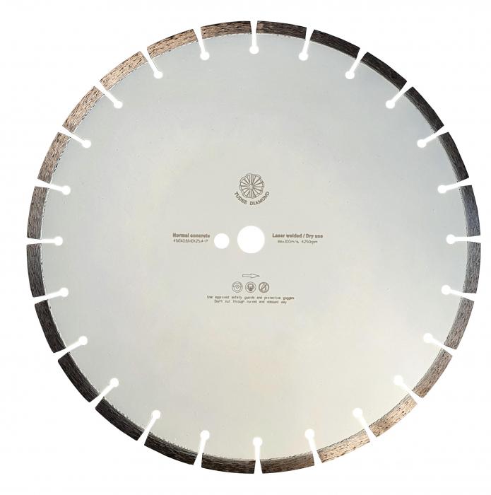 Tudee 450x3.6x10x25.4-P, Disc diamantat beton 0