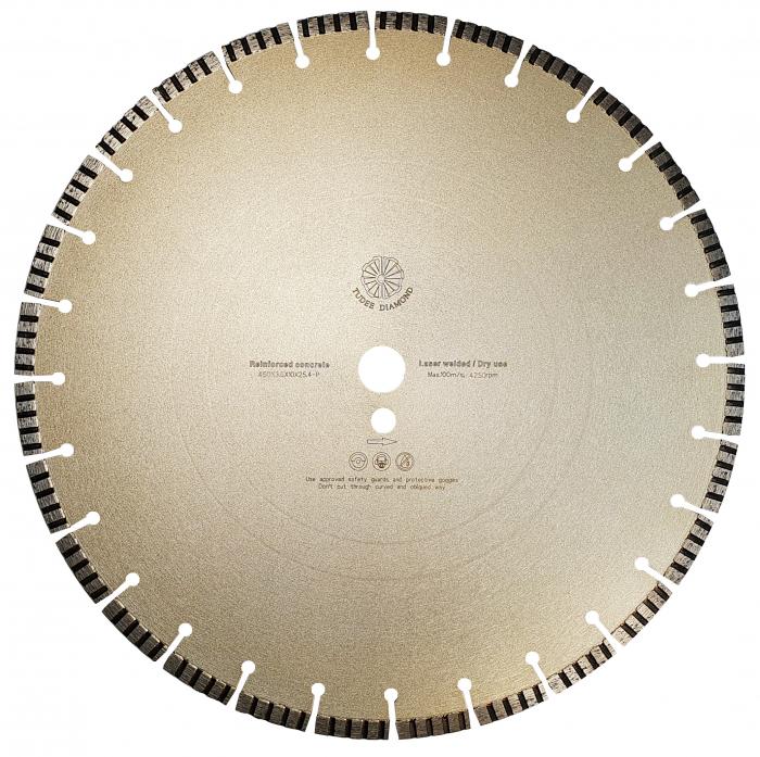Tudee 450x3.6x10x25.4-P, Disc diamantat beton armat [0]