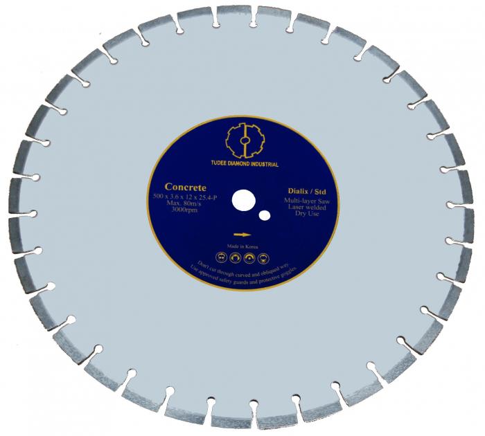 Tudee 500x25.4mm, Disc diamantat debitare beton dur 0