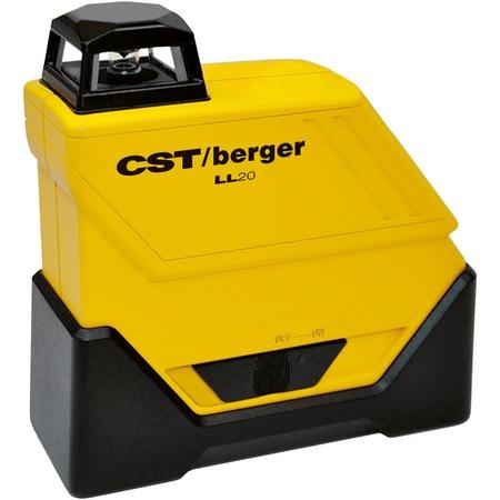 Bosch CST/berger LL20 Set nivela laser plan 360gr pentru exterior, 80m, receptor 160m, precizie 0.15mm/m orizontal0