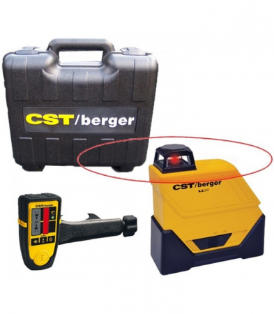 Bosch CST/berger LL20 Set nivela laser plan 360gr pentru exterior, 80m, receptor 160m, precizie 0.15mm/m orizontal1