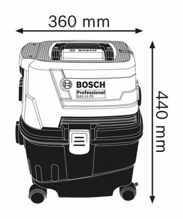 Bosch GAS 15 Aspirator, 1100W, 10L1