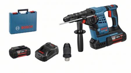 Bosch GBH36 VF-Li Ciocan rotopercutor cu acumulator, 36V, 3.2J + 2 x Acumulatori GBA 36V 4.0Ah + Incarcator rapid + Valiza profesionala0