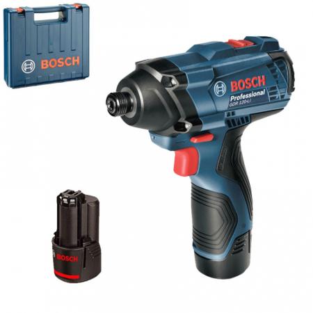 Bosch GDR 120-LI Masina de insurubat cu impact cu acumulator + 2 x Acumulatori Li-ion 1.5Ah + Incarcator AL 1215 CV + Valiza profesionala [1]