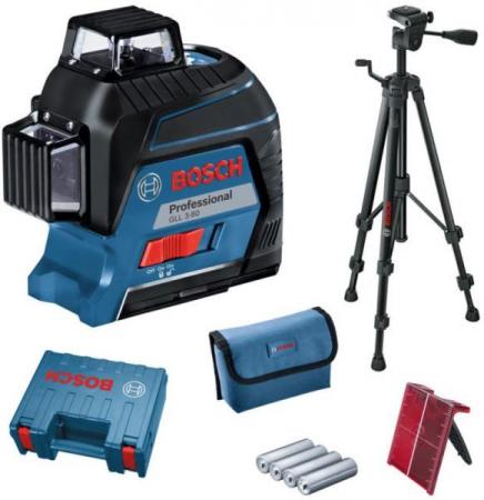 Bosch GLL 3-80 + BT 150 Nivela laser cu linii, 30m, receptor 120m, precizie 0.3mm/m [0]