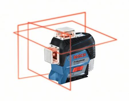 Bosch GLL 3-80 C Nivela laser cu linii, 30m, receptor 120m, precizie 0.2mm/m + BM1 + L-Boxx [0]